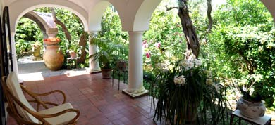 Villa Eva's patio